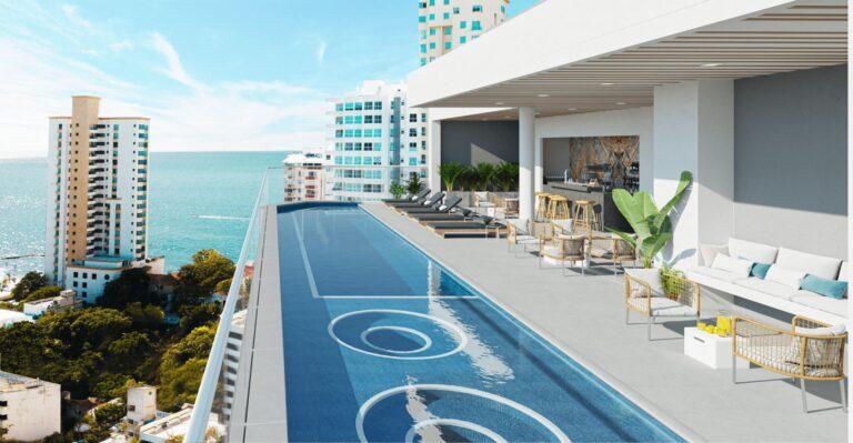 piscina adultos apartamentos en santa marta