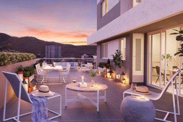 terraza apartamentos en rodadero santa marta